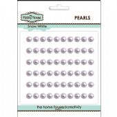 The Hobby House Self Adhesive Pearls - 5mm Snow White - HH514